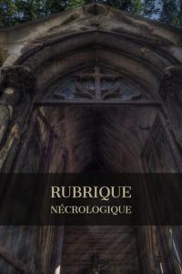 Couverture de Rubrique Nécrologique
